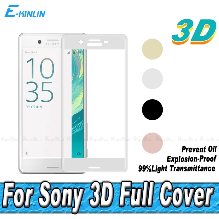 Screen Protector For Sony Xperia X XA X Performance XA Ultra Thin C6 Full Cover 3D Curved Edge Surface Tempered Glass Film