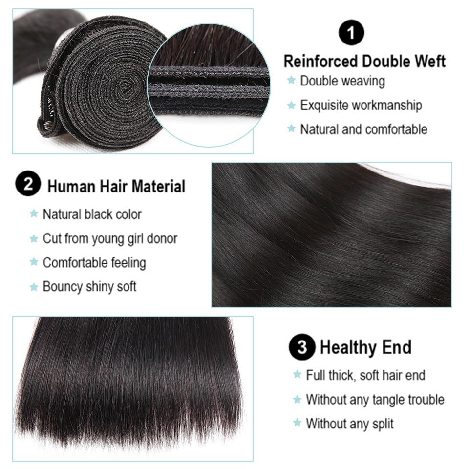 Black Pearl Straight Hair csomagok bezárása nem remy emberi haj 3 - Emberi haj (fekete) - Fénykép 3