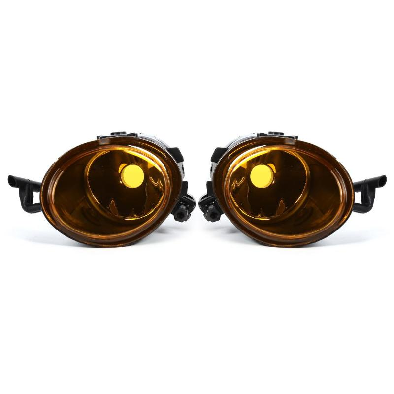 VODOOL 2Pcs Replacement Left Right Front Bumper Amber Yellow Fog Light With Bulbs Car Styling For