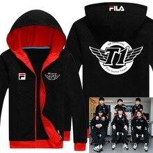 Plus size Game LOL Faker SKT T1 S6 Team Uniform WAR Finals lol player fleece Hoodie jacket Winter Coat in stock free shipping NE
