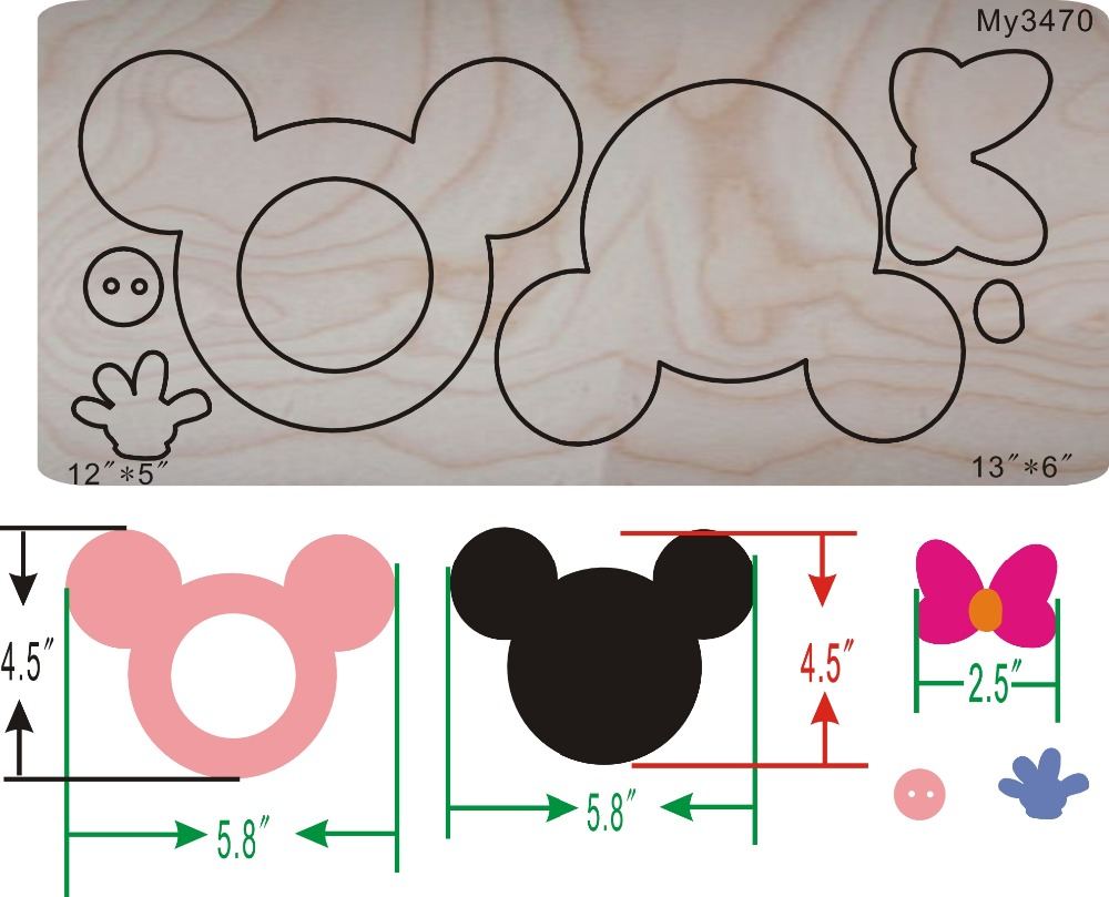 Micky mouse frame & Woodenwatermelon dies for scrapbooking,   machineMicky mouse frame & Woodenwatermelon dies for scrapbooking,   machine