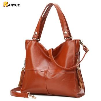 2017 Soft Patchwork Bolsa Feminina Tassel Women Handbag Luxury Pu Women Leather Handbags Large Capacity Women Shoulder Tote Bags grande bolsas femininas de couro