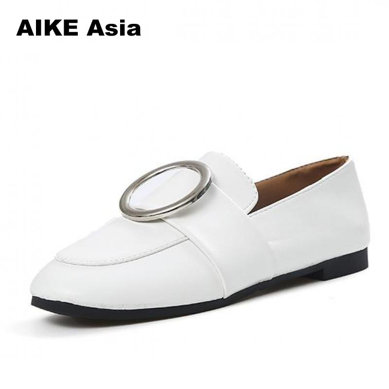 New Comfortable Leather Women Flats Moccasins Loafers Ladies Shoes Wild Driving Women Casual Shoes Leisure Concise Flat #AKK111 2017 summer new women fashion leather nurse teacher flats moccasins comfortable woman shoes cut outs leisure flat woman casual s