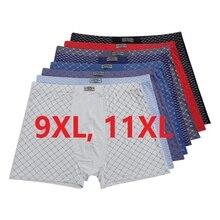 Мужские трусы боксеры 9XL,11XL, нижнее белье из 95% бамбукового волокна с принтом, отличное качество, 4 шт./лот