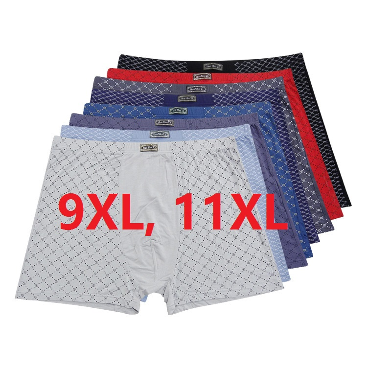 9XL,11XL Brand New Shorts Fashion Mens Underwear Boxers 95%bamboo Fiber Print  Underpants Excellent Quality  4pcs/lot