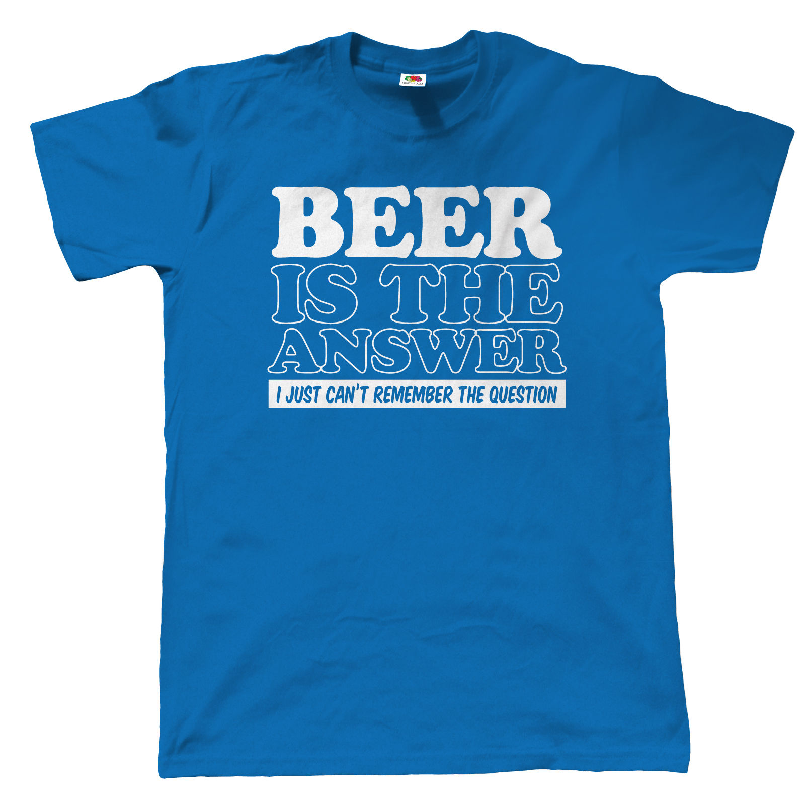 Beer Is The Answer Mens Funny T Shirt - Gift For Dad Christmas CAMRA Real Ale