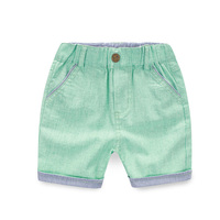 Shorts Boys Stripe Summer Baby Boy Shorts Solid Elastic Waist Boys Pants Summer Fashion Kids Clothes