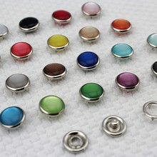 20 sets 12mm Accessories High Quality Resin Bread Pearl Copper Prong Snap Bodysuit Popper Child Children's Clothing Button(China)
