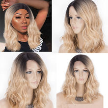 2018 New Fashion Wig Short Seamless Rose hair net Front Wig Hair Infant Hair Brazilian Leibo Wig Hot Sell Wig Drop Shipping(China)