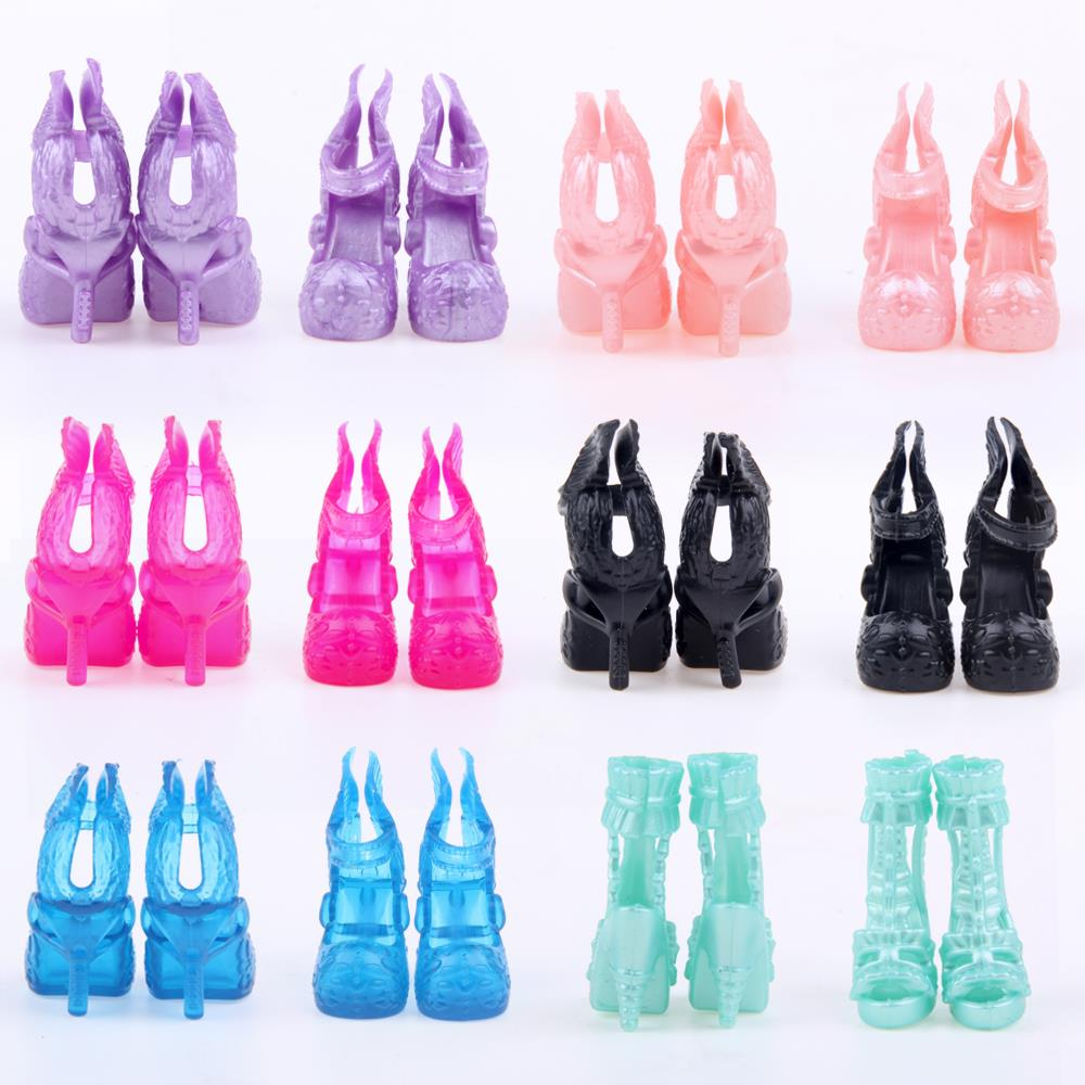 A Lot=10 pair Fashion Shoes Randomly Pick for Original Monster Dolls Monster Hight Accessories High Quality Free Shipping