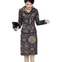 Africa Print Women Skirt Suit Two Pieces Festive Ladies Ankala Fashion Suit Jacket And skirts Tailored Festive Costume Soat