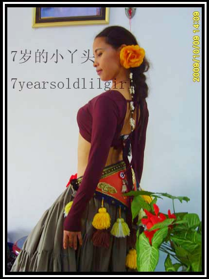 Lycra Cotton Belly Dance  Long Sleeve Choli Top Velvet Fat Chance Tribal Top LB16-22