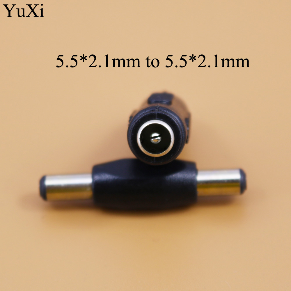 YuXi 3pcs 5.5*2.1 mm DC Power Plug <font><b>Connector</b></font> male to male female to female 5.5x2.1mm Panel Mounting Plugs Adaptor image