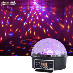 Crystal Magic Ball Stage Effect Light dmx512 Sound Activated Rotating Disco Ball Party Light for ,KTV, family party