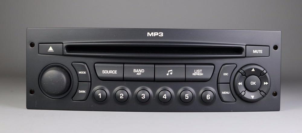 Genuine Original RD43 Car Radio With CD USB Aux MP3 For Peugeot 207 206 307 308 408 807 Citroen C2 C3 C4 C5 C8