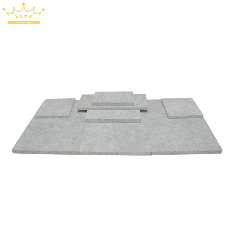 MDF Board Substrate for Jewelry Display Grey Velvet Window Showcase Bottom Board Jewelry ...