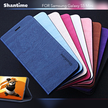 Leather Phone Case For Samsung Galaxy S5 Mini Flip Book Case For Samsung Galaxy S5 Business Wallet Case Tpu Silicone Back Cover protective flip open pc tpu back case w display window for samsung galaxy s5 blue