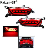 Taillight Style Red 3D Optic Style LED Bumper Reflector Lights For 2016 Up Mazda CX 3