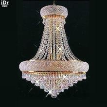 Люстры Современная Золотая лампа Висячие золотые хрустальные лампы, бытовые лампы 50 см W x 66 см H