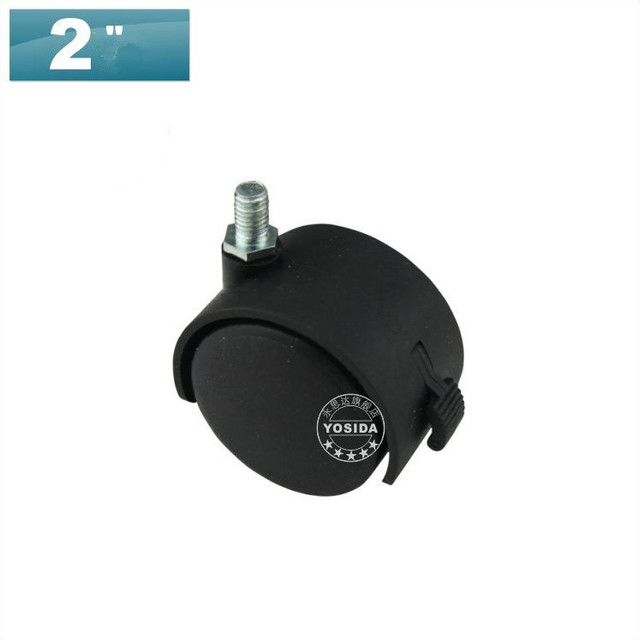 """Set of 5 ABS Wheel With Brake 2"""" Durable Chair PARTS 8MM  Perfect for Furniture/Office Desk"""