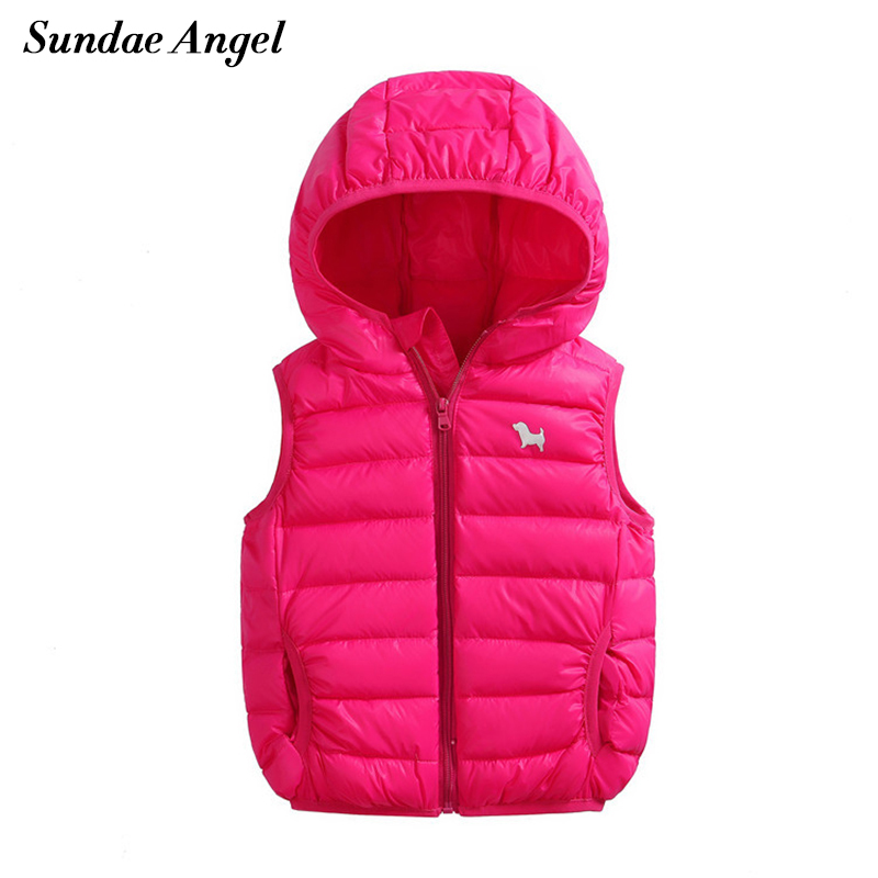 Sundae Angel 2017 Autumn Winter Kids Outerwear Boys Girls Vest Solid Warm Down Jacket Baby Vest
