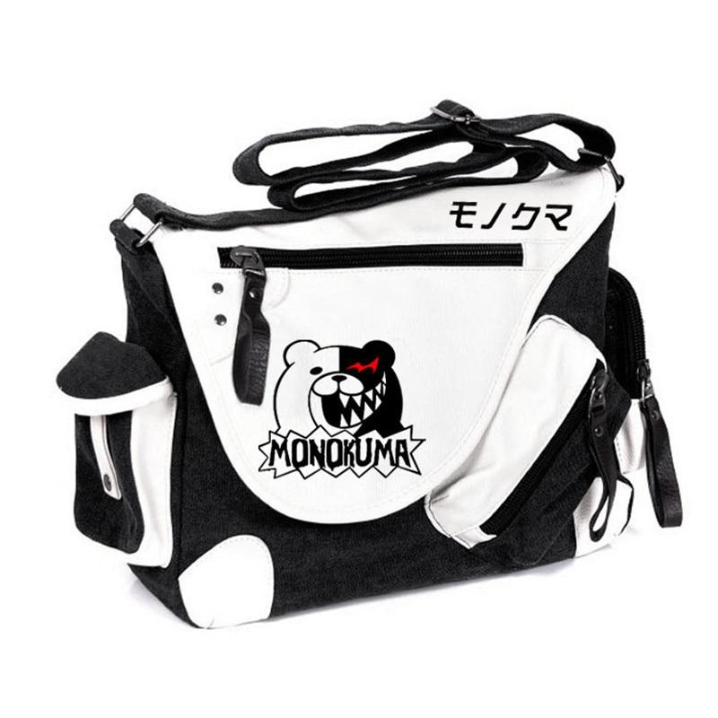 Brand Designer Danganronpa Monokuma Messenger Bags Crossbody Shoulder Bag Bolsa Feminina Schoolbag