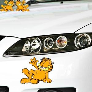Aliauto мультяшная забавная наклейка для автомобилей, наклейка для Гарфилда, аксессуары для Chevrolet Captiva Niva aveolachetti Sonic Spark Cruz Ford Focus