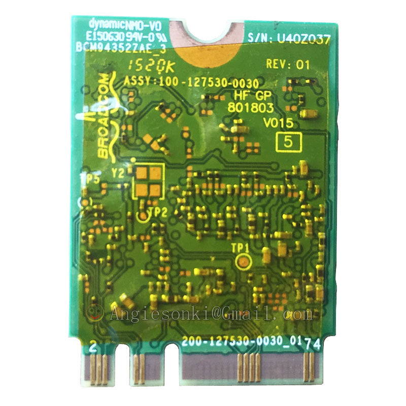 DW1560 6 XRYC 802.11 AC 867 Mbps Bluetooth 4.0 WIFI Carte WIFI NGFF pour Dell XPS 13 9343 Broadcom BCM94352Z Toshiba Acer - 2