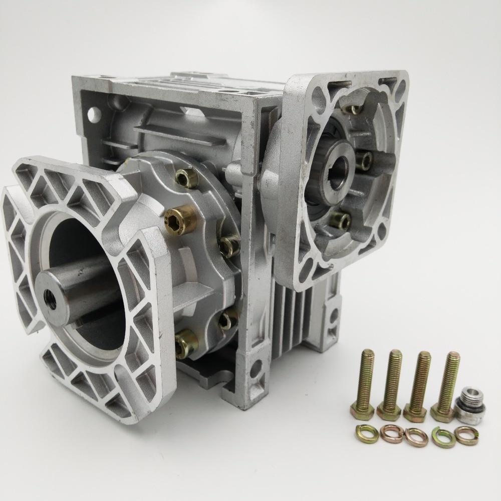 купить NMRV050-10 with Short Output Flange Ratio 10:1 Worm Gearbox Reducer 14mm 19mm Input Shaft for NEMA42 Servo Motor Stepper Motor по цене 3859.75 рублей