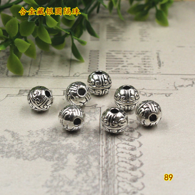 Free Ship 30Pcs Tibetan Silver Spacer Beads For Jewelry Making 10x9mm