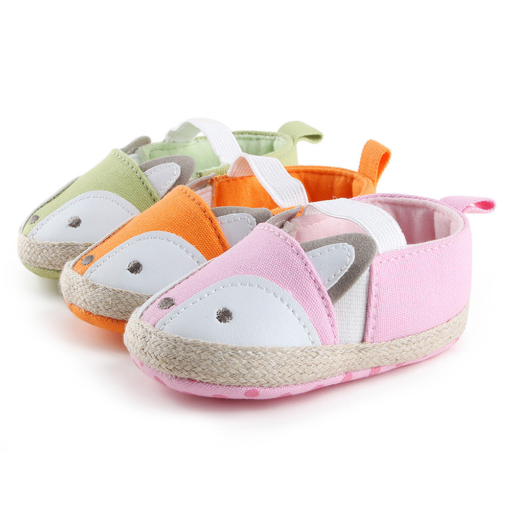 2018 Kids Party Baby Girl Fox Shoes Sneaker Anti-slip Soft Sole Toddler Shoes 822