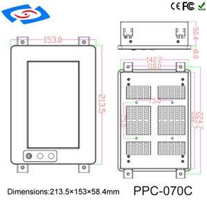 Image 5 - 7 inç Yüksek Parlaklık dokunmatik ekran paneli PC/Endüstriyel Bilgisayar/Sağlam PC Çözünürlük 1024*600 Ile Uygulama Hastane
