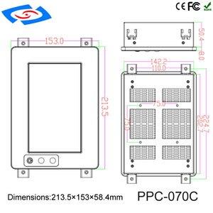 Image 5 - 7 אינץ בהירות גבוהה מסך מגע פנל מחשב/תעשייתי מחשב/מחשב מוקשח עם רזולוציה 1024*600 יישום בית חולים