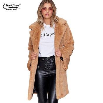 New Parka Phụ Nữ sang trọng áo khoác Eliacher Thương Hiệu Mùa Đông Mùa Thu Ấm Áo Khoác đơn ngực Nữ Casual Jacket coat Tops 8975