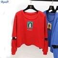 11.11 Promotions Women Sweatshirts Harajuku Cartoon Printed Tracksuit Women Sweatshirt Female Hollow Long Sleeves Plus Size