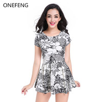 ONEFENG Hot Selling Swimsuit for Mastectomy Artificial Breast Forms Swimwear Sexy Bikini Beachsuit S XXXL