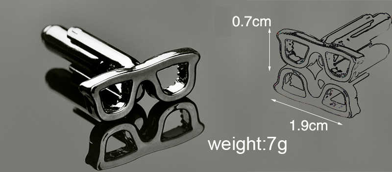 Mens Designer Jewelry French Cufflinks Eye Glasses Sunglasses Eyeglasses Cuff Links High Quality Brand Groom Wedding Gift