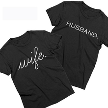Husband and Wife Matching Tshirts Just Married Honeymoon Couples Tshirts Unisex T-shirts Fashion Tee