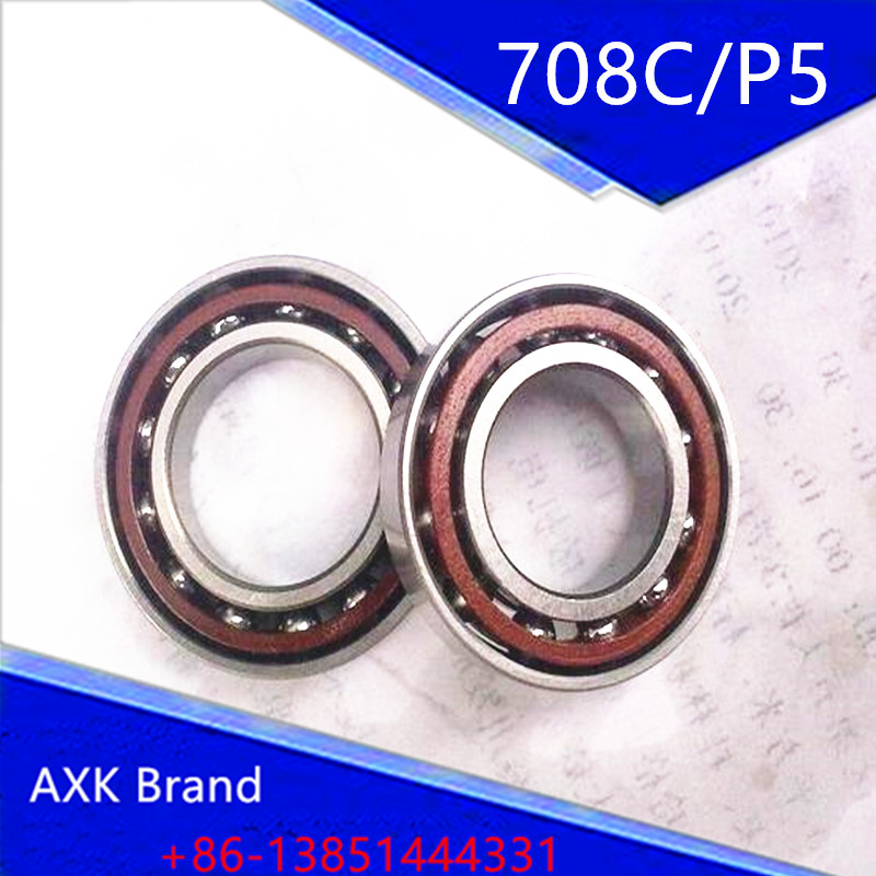 10PCS 8mm Spindle Angular Contact Ball Bearings 708C/P5 SUPER PRECISION BEARING ABEC-5 708 708C 708AC 8x22x7 MC BEARING original 7003 ac p5 angular contact ball bearings 17 35 10