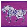 2016 женщин шелковый шарф square130 * 130cm100 % чистого шелковые шарфы животное лошадь печать мода бренд шарф largesilk платки индия