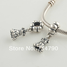 925 Sterling Silver Screw Party Girl Charm Dangle Bead Fit European Jewelry Bracelets Necklaces & Pendants