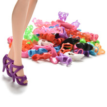 Trendy Mix Assorted Doll Shoes Multiple Styles Heels Sandals For Dolls Dolls Accessories 40 Pairs(China)