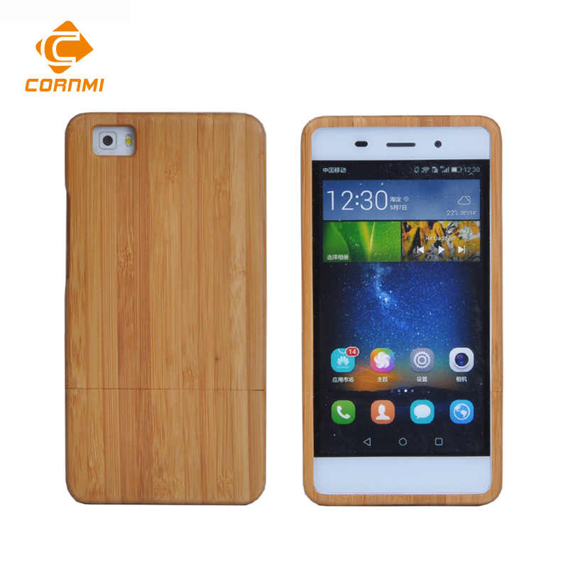 CORNMI 100% Natrual Bamboo Wood Case for Huawei P8 Lite Cases Mobile Phone Real Wooden Cover for Huawei P8 Lite Hard Covers