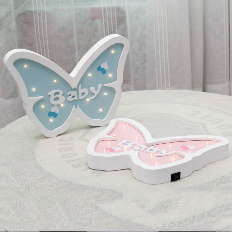 Cartoon Butterfly Modeling Light LED Nattlys Baby Room Dectoration - Ferie belysning - Foto 4