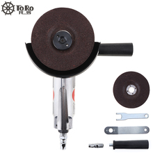 TORO-6040 4 Inch High-speed Pneumatic Angle Grinder with Disc Polished Piece and PVC Handle for Machine Polished / Cutting