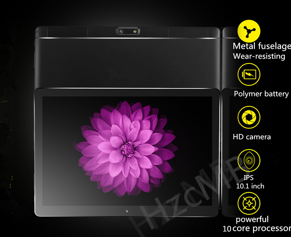Android 7.0 10.1 inch MTK Tablet PC 3G4G LTE dual card personal computer 10Core 4GB memory 64GB Bluetooth Wifi Capacitive Sc