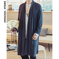 Sinicism Store Mens Long Length Windbreaker Jacket Coat Summer Thin Kimono Coat Vintage Male Jackets Clothes 2018 Plus Size
