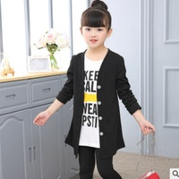 Girls Clothing Set Suits 2018 New Spring and Autumn Kids Clothes Sets Children's Sport Suits Letter Colors Size110 160 ly079