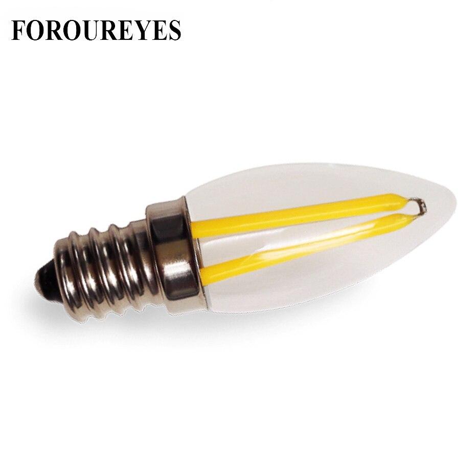 10PCS E12 LED Lamp 220V 110V 1.5W Filament COB Bulb Refrigerator Light Candelabra Base Chandelier Replace Halogen Lighting