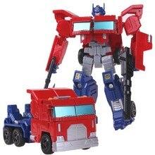 Robot Transformasi Mainan Plastik ABS + Paduan Aksi Angka Klasik Model Mainan untuk Anak-anak Hadiah Natal #8818A6